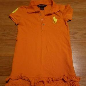 RALPH LAUREN SIZE 5 GIRLS POLO SHIRT STYLE DRESS